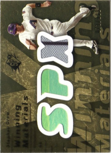 Photo of 2007 SPx Winning Materials 199 Gold #SD Stephen Drew/199