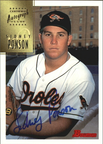 Photo of 1997 Bowman Certified Blue Ink Autographs #CA63 Sidney Ponson