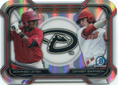 Photo of 2015 Bowman Chrome Draft Teams of Tomorrow Die Cuts #TDC2 Dansby Swanson/Domingo Leyba