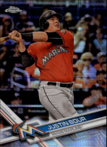 Photo of 2017 Topps Chrome Prism Refractors #181 Justin Bour