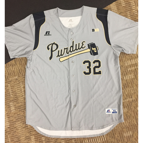 Purdue Baseball #32 Gray Game-Worn Jersey