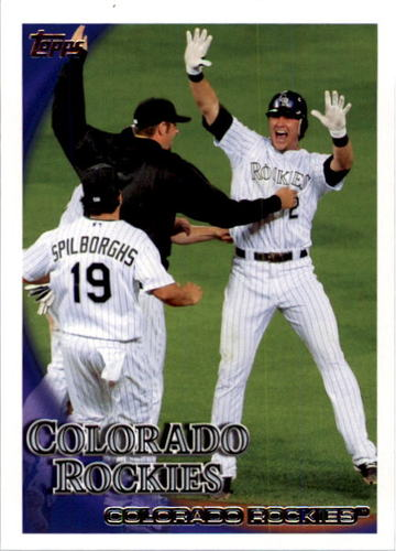 Photo of 2010 Topps #397 Colorado Rockies