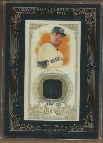Photo of 2012 Topps Allen and Ginter Relics #RR Ricky Romero