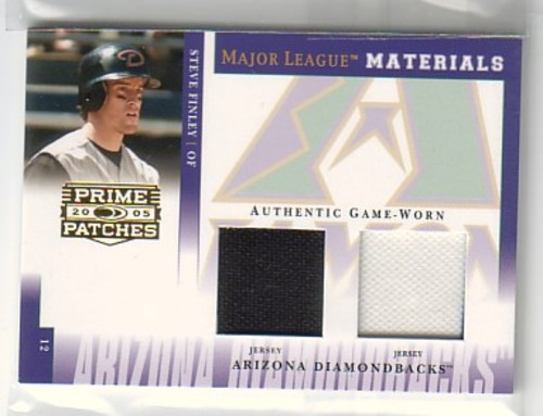 Photo of 2005 Prime Patches Major League Materials Double Swatch #14 Steve Finley Jsy-Jsy/150