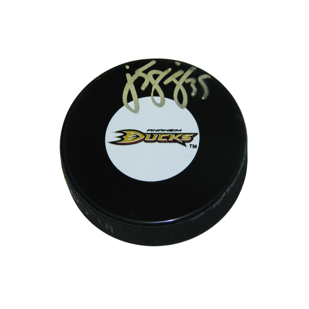 J. S. GIGUERE Signed Anaheim Ducks Puck