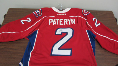 AHL RED GAME ISSUED GREG PATERYN JERSEY SIGNED