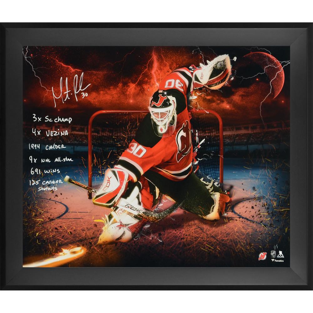 Martin Brodeur New Jersey Devils Framed Autographed 20