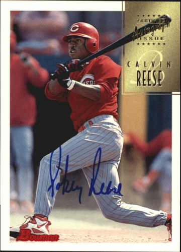 Photo of 1997 Bowman Certified Blue Ink Autographs #CA64 Pokey Reese