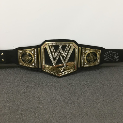 Photo of Randy Orton SIGNED WWE Championship Replica Title (with Side Plates)