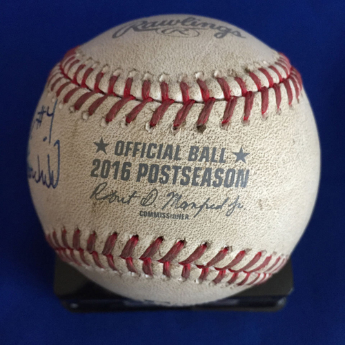Photo of UMPS CARE AUCTION: 2016 ALDS Crew Signed Baseball (TOR vs. TEX)