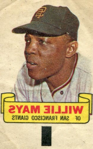 Photo of 1966 Topps Rub-Offs #60 Willie Mays-- Hall of Famer