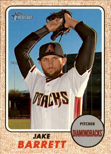 Photo of 2017 Topps Heritage #211 Jake Barrett -- D'backs post-season