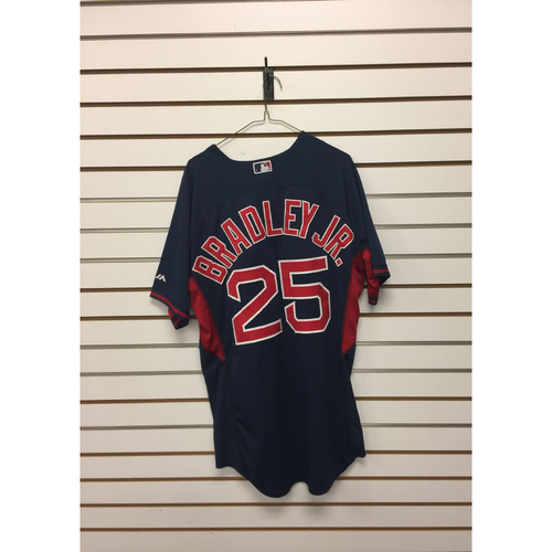 Jackie Bradley Jr Team-Issued Road Batting Practice Jersey