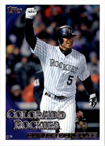 Photo of 2010 Topps #398 Carlos Gonzalez