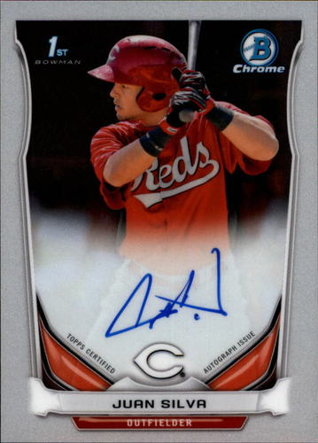 Photo of 2014 Bowman Chrome Prospect Autographs #BCAPJSI Juan Silva