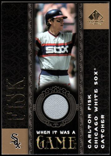 Photo of 2007 SP Legendary Cuts When it Was a Game Memorabilia #CF Carlton Fisk