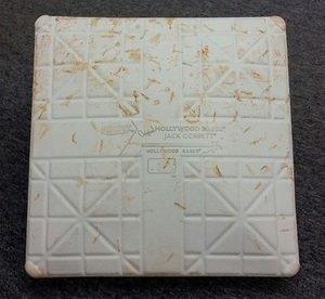 Authenticated Game-Used 2nd Base from May 19, 2015 vs L.A. Angels. - used for innings 1-5.  Base also used for innings 1-5 on May 21, 2015