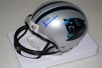 PANTHERS - OWNER JERRY RICHARDSON SIGNED PANTHERS MINI HELMET