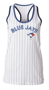 Toronto Blue Jays Women's Pinstripe Racerback Tank by 5th & Ocean