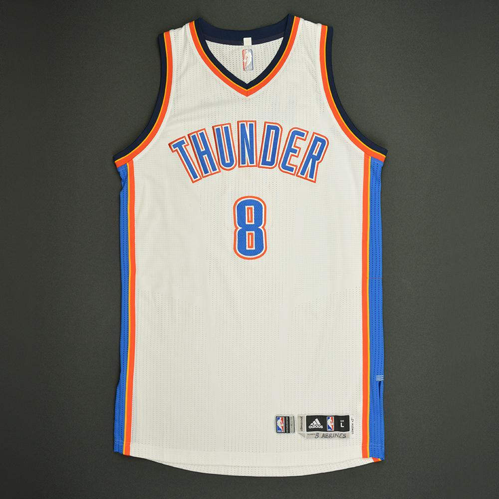 Alex Abrines - Oklahoma City Thunder - Game-Worn Rookie Debut Jersey - 2016-17 Season