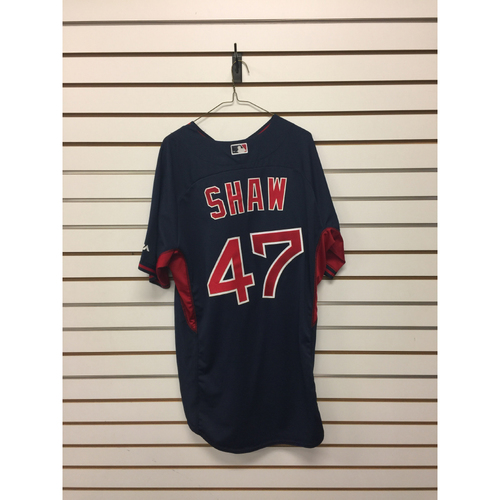 Travis Shaw Team-Issued Road Batting Practice Jersey