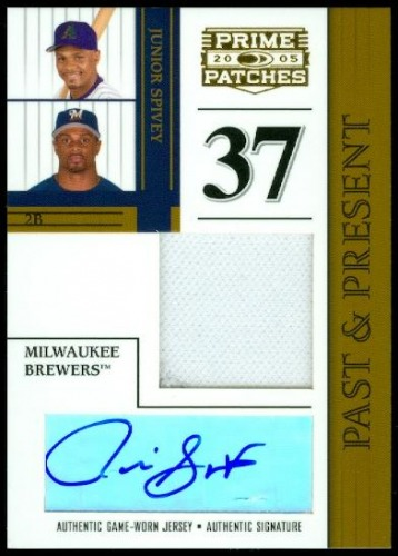 Photo of 2005 Prime Patches Past and Present Autograph Jersey #10 Junior Spivey/250