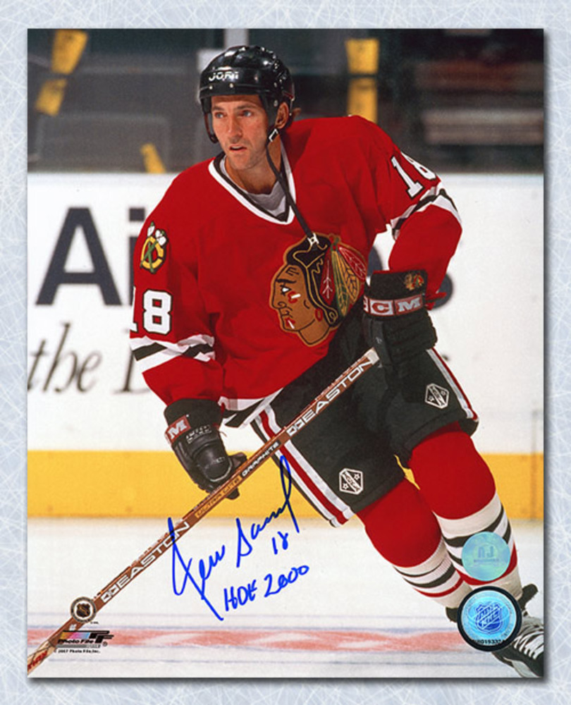 Denis Savard Chicago Blackhawks Autographed Hockey Legend 8x10 Photo