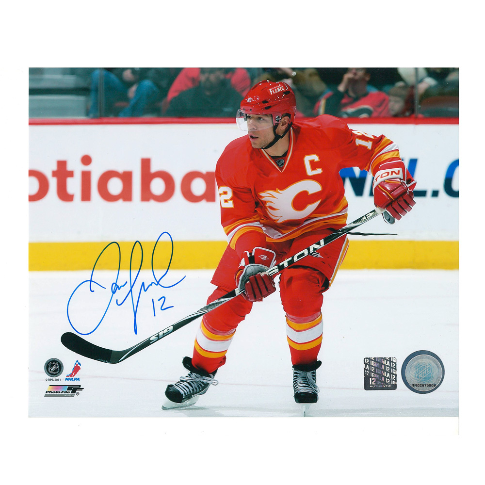 JAROME IGINLA Signed Calgary Flames 8 X 10 Photo - 70417