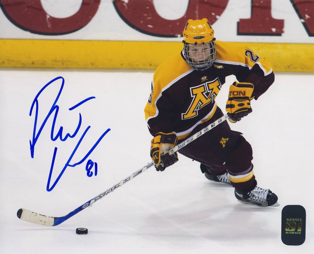 PHIL KESSEL Toronto Maple Leafs SIGNED University of Minesota 8x10 Photo
