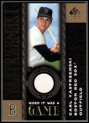 Photo of 2007 SP Legendary Cuts When it Was a Game Memorabilia #CY Carl Yastrzemski