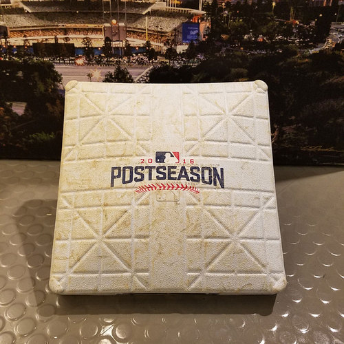 Photo of 2016 NLDS Game 3: Nationals vs. Dodgers - Game-Used Base: 1st Base - Innings 5-9