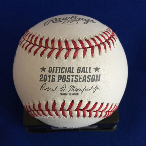 Photo of UMPS CARE AUCTION: 2016 Postseason Signed Baseball Signed by Frank Robinson and Cal Ripken