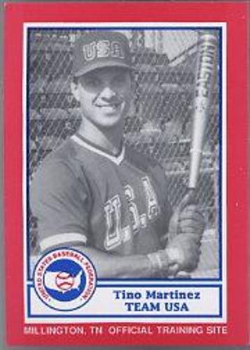 Photo of 1990 Pan Am Team USA Red BDK #1 Tino Martinez