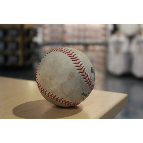Photo of Game-Used baseball: Mookie Betts Double (6/21/17 BOS @ KC)