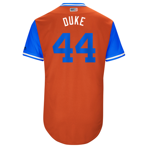 "Photo of Luke ""Duke"" Gregerson Houston Astros Game-Used Players Weekend Jersey"