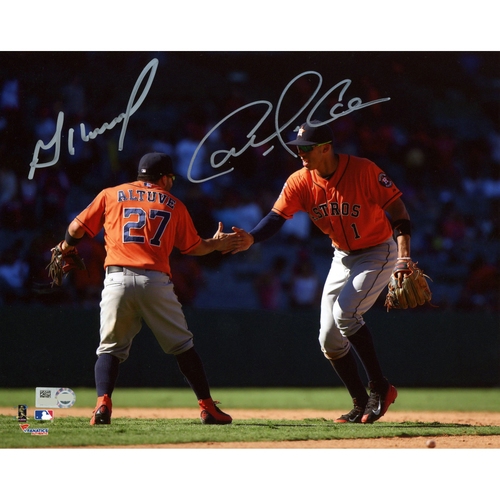 "Photo of Carlos Correa and Jose Altuve Autographed 8"" x 10"" Celebration Photograph"