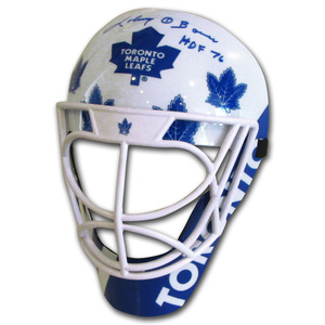 Johnny Bower Autographed Toronto Maple Leafs Fan Mask