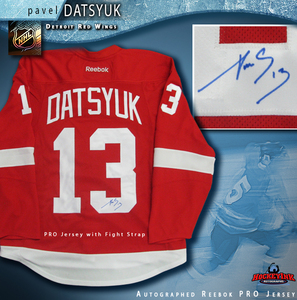 PAVEL DATSYUK Signed Detroit Red Wings Red Reebok PRO Jersey
