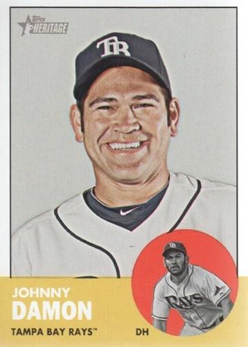 Photo of 2012 Topps Heritage #418 Johnny Damon