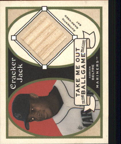 Photo of 2005 Topps Cracker Jack Take Me Out to the Ballgame Mini Relics #AB Adrian Beltre Bat
