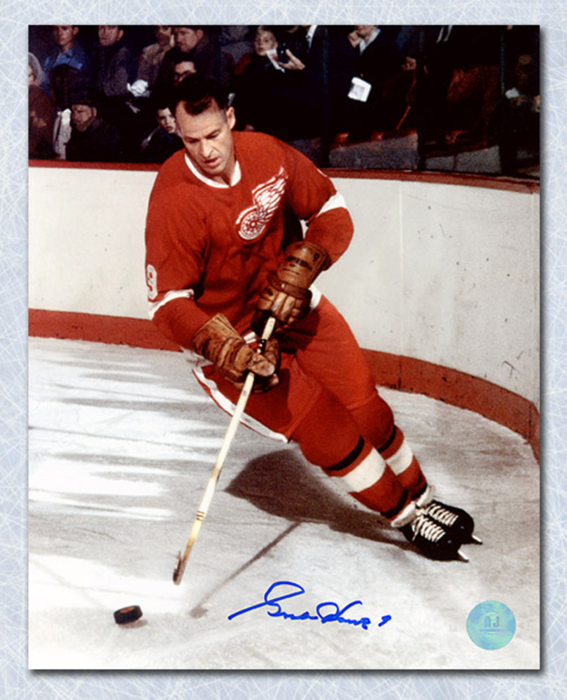 Gordie Howe Detroit Red Wings Autographed Original Six Legend 8x10 Photo