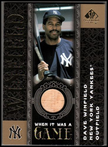 Photo of 2007 SP Legendary Cuts When it Was a Game Memorabilia #DW Dave Winfield