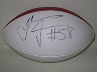 PANTHERS - THOMAS DAVIS SIGNED PANEL BALL