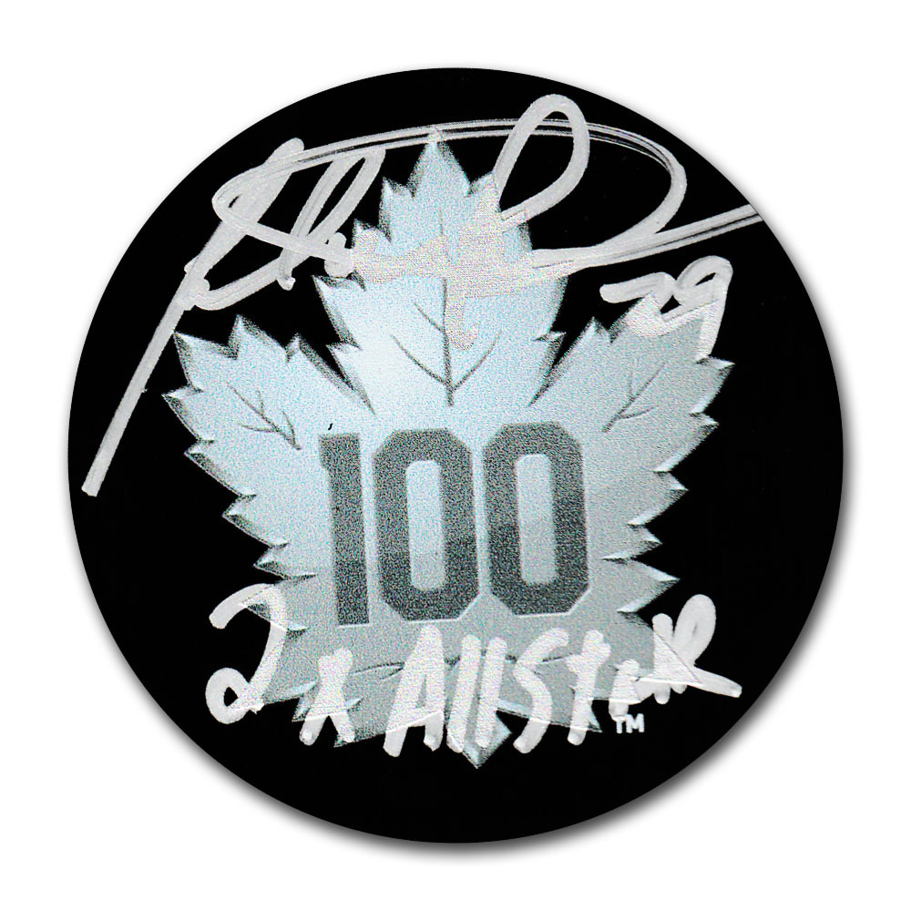 Felix Potvin Autographed Toronto Maple Leafs Centennial Season Puck w/2X ALLSTAR Inscription