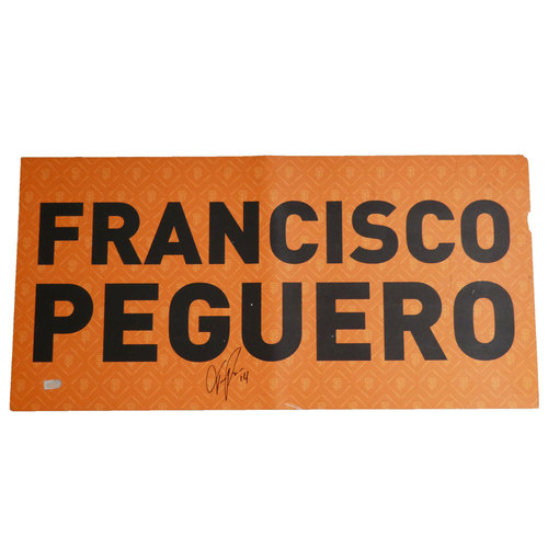 Photo of San Francisco Giants - 2012 World Series Parade Car Magnet - Francisco Peguero (Autographed)