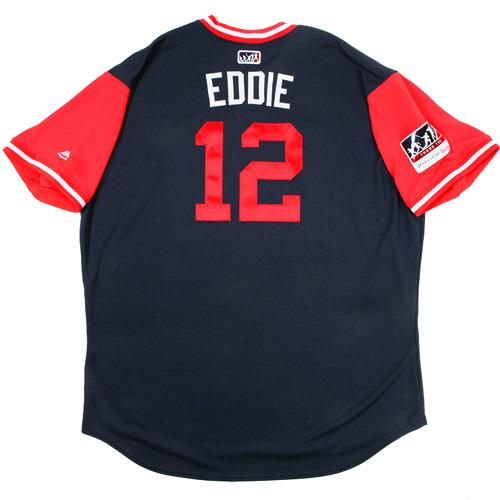 """Photo of Eddie """"Eddie"""" Pèrez Atlanta Braves Game-Used Players Weekend Jersey"""