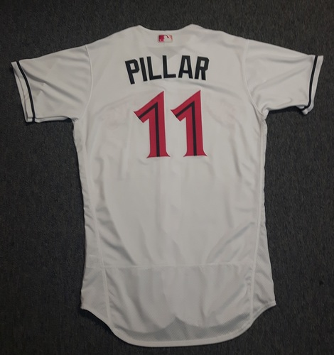 Photo of Authenticated Team Issued Jersey - #11 Kevin Pillar (2017 Mother's Day). Size 44. Pillar had a Walk-Off Home Run on Mother's Day