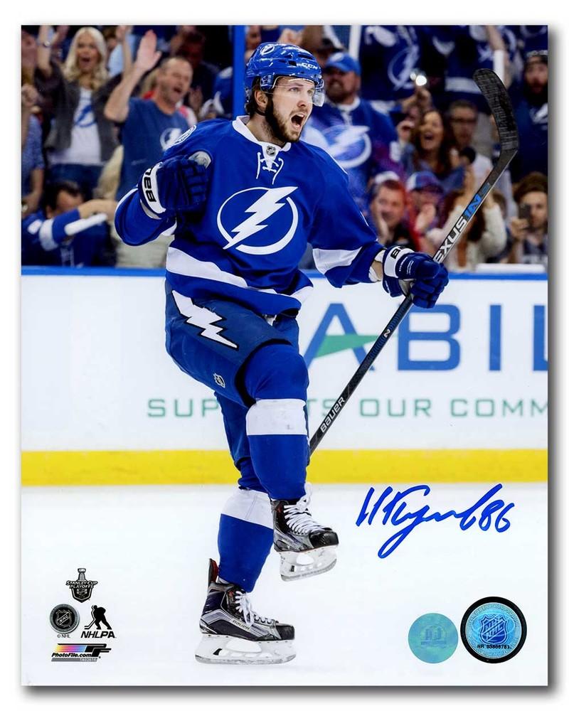 Nikita Kucherov Tampa Bay Lightning Autographed Goal Celebration 8x10 Photo