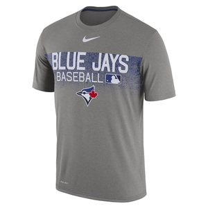 Toronto Blue Jays Authentic Collection Legend Team Issue 1.8 Grey T-Shirt by Nike