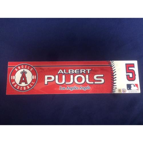 Photo of Albert Pujols Team-Issued 2016 Locker Tag